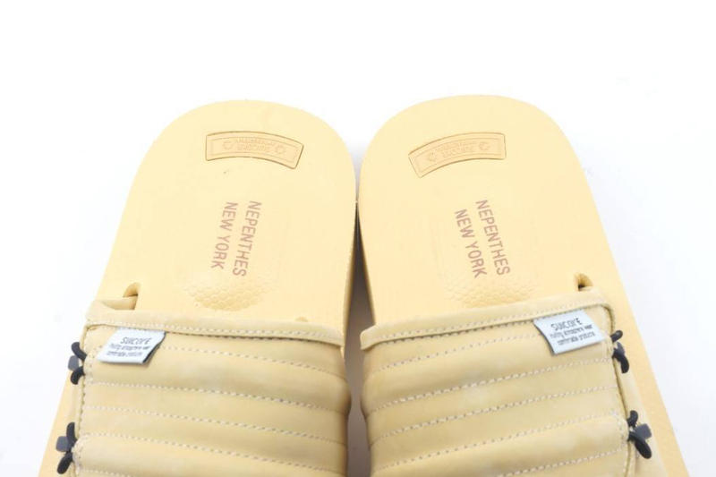 Suicoke x Nepenthes New York Limited Edition Slides Black Crocodile Wheat Nubuck