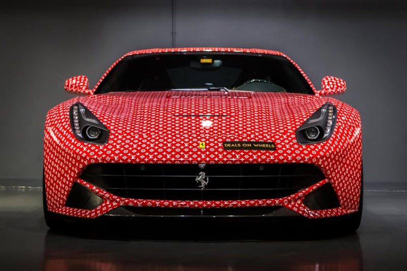 Supreme x Louis Vuitton Ferrari F12 Berlinetta 2014 Custom Model For Sale Auction Deals on Wheels Supercar