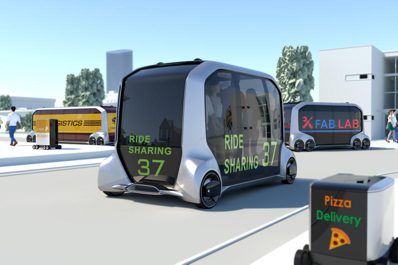 Toyota Amazon Uber Pizza Hut ePalette Alliance concept CES 2018 Self Driving Automated Store