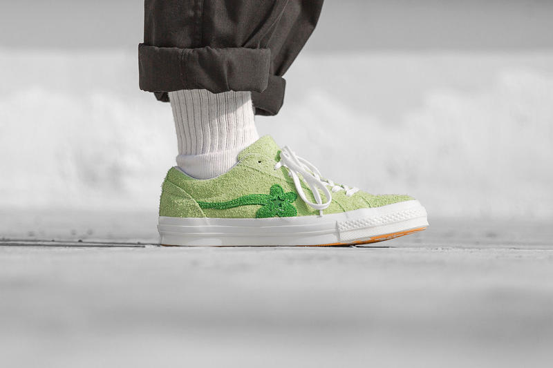 Tyler, The Creator Converse GOLF le FLEUR* On Foot Look Release Geranium Pink Jade Lime Bachelor Blue