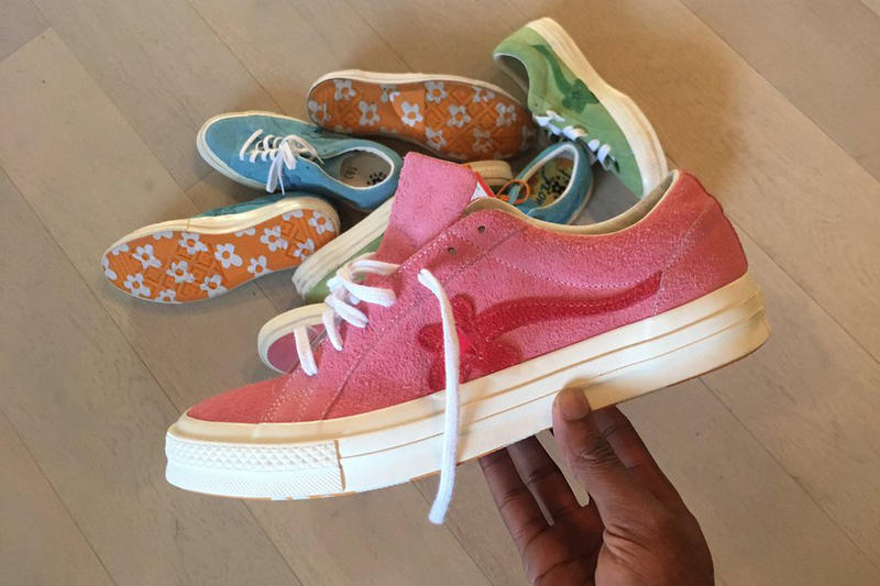 Tyler the Creator GOLF le FLEUR Converse One Star pink red footwear