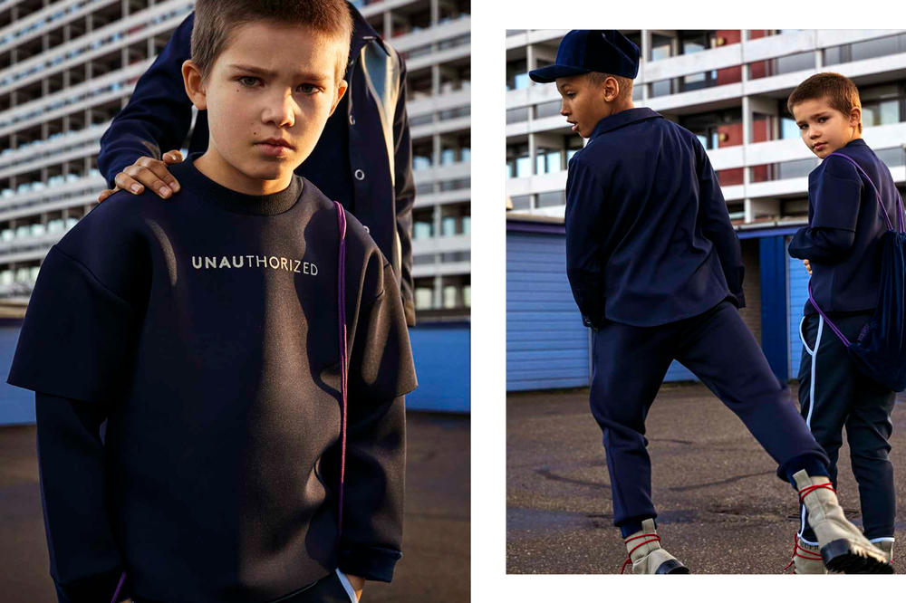 Unauthorized 2018 Fall Winter Collection Lookbook Denmark Father Son Athleisure sweatpants tracksuit