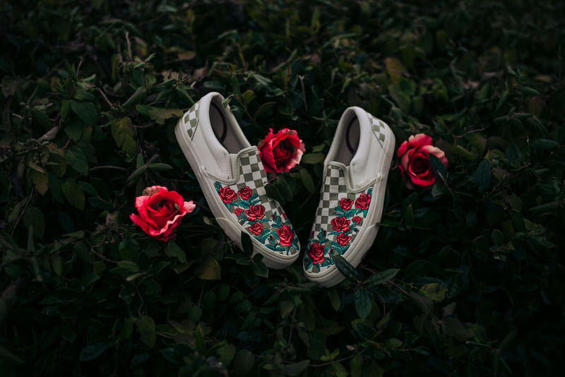 Vans Slip On Classic DX Rose Embroidery Checkerboard Rock City Kicks 2018  January Drop Release Date 2e4ee645f