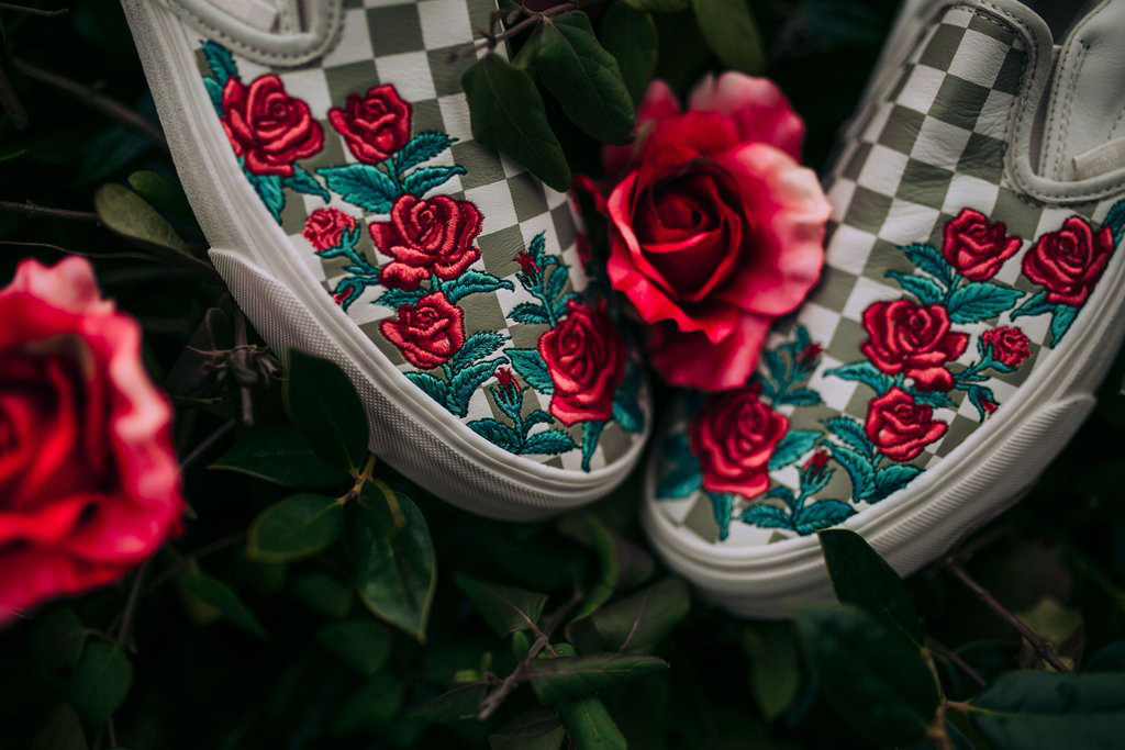 vans slides rose