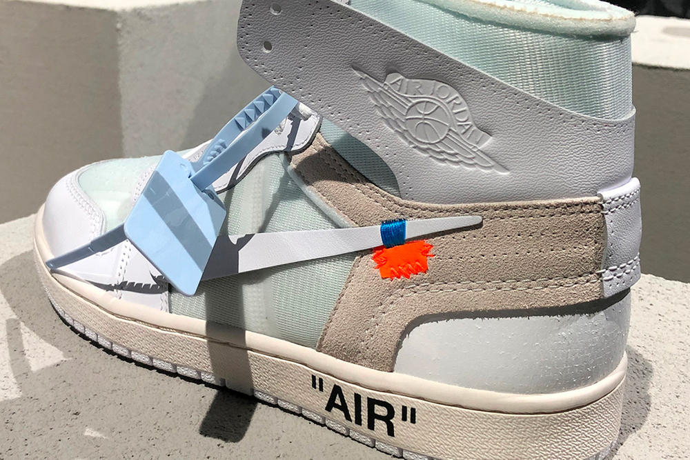 Virgil Abloh Air Jordan 1 White Colorway Closer Look Jordan Brand Nike Off White Future Of Flight
