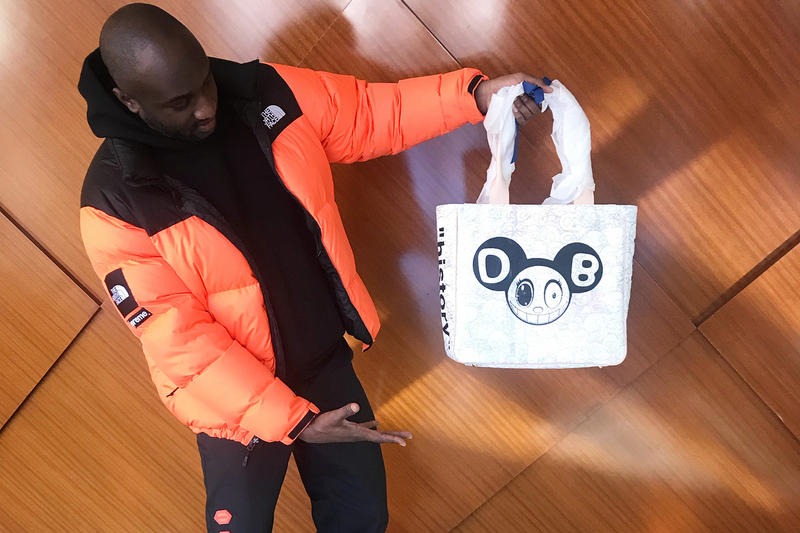 Virgil Abloh Takashi Murakami Tote Bag Collaboration