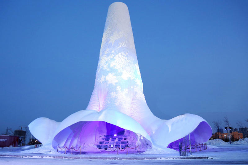 World's Tallest Ice Tower Structural Ice Harbin China V&A Dundee