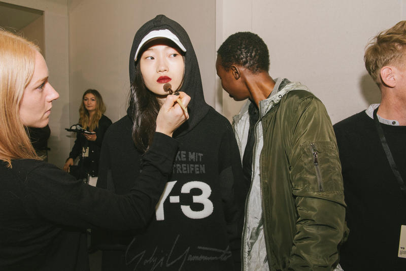Y-3 Fall/Winter 2018 Paris Fashion Week Backstage Yohji Yamamoto adidas James Harden Futurecraft