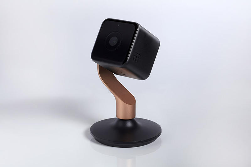 Yves Behar Hive View Detachable Indoor Camera Fuse Project Gold White Champagne Black Brushed Copper