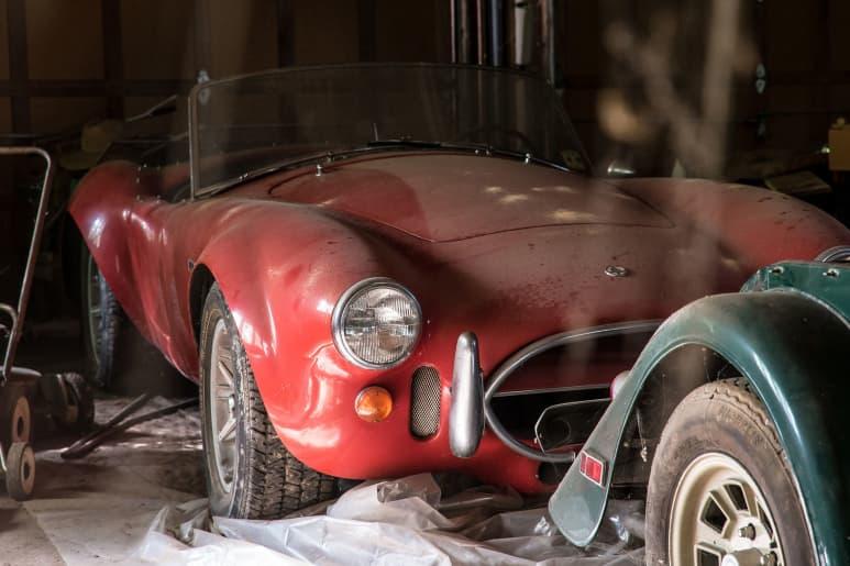 1967 Shelby 427 Cobra Auction 1 Million AC Cobra Ford V8 Engine Barn Find