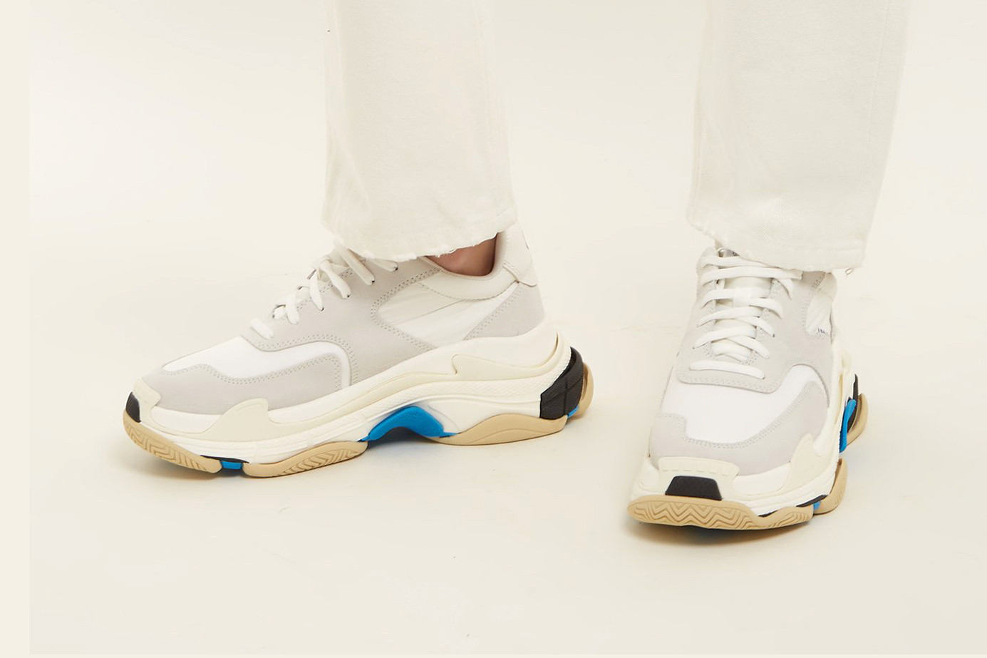 Balenciaga Triple S Clear Sole Sneakers Lyst