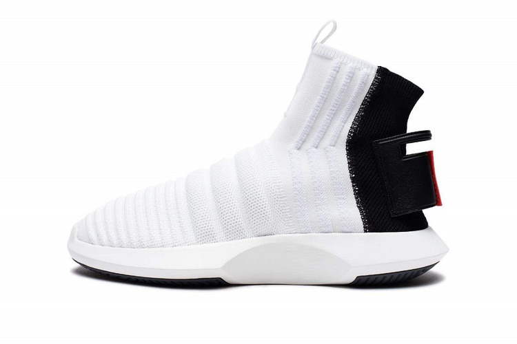 quality design a9671 1076d adidas Gives the Crazy 1 ADV Sock Primeknit a White, Black  Red Makeover