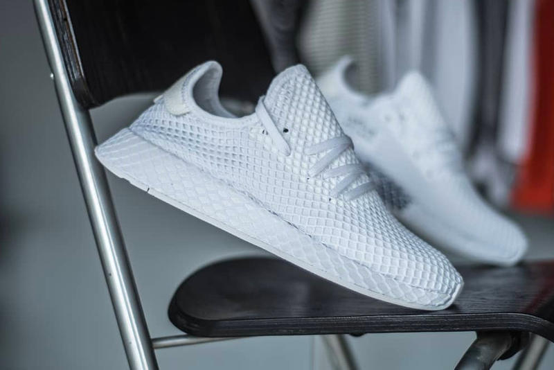 look for 3e10e 1cb67 adidas Deerupt closer look all-white mesh