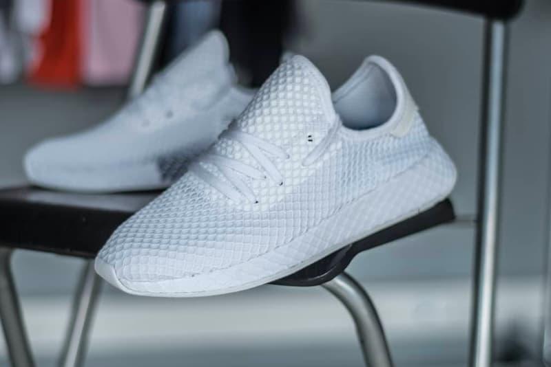 adidas Deerupt closer look all-white mesh