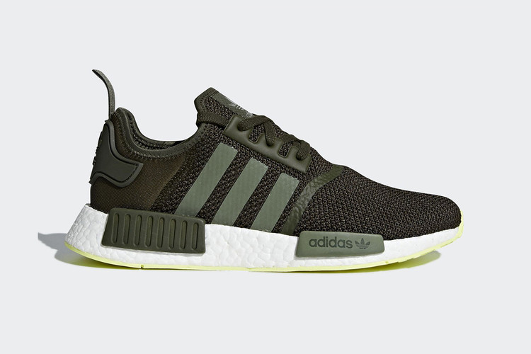 4f43305bfd3e Adidas Mixes Neon With Night Cargo on the NMD R1