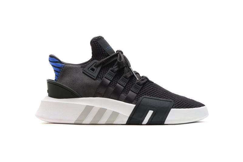 purchase cheap 5bcbb b4b56 adidas Originals EQT BBall ADV Carbon Collegiate Royal Black Blue 2018  January Release date info sneakers