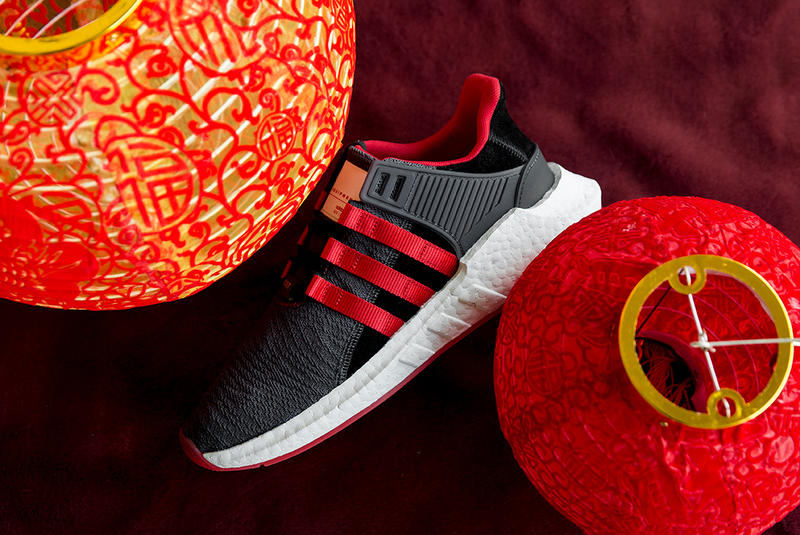adidas Originals EQT Support 93 17 Yuanxiao china lantern festival black red gold 2018 february 23 release date info