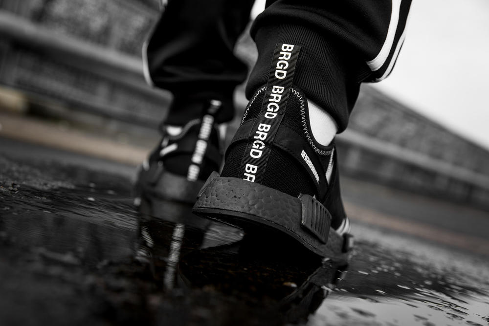 adidas Originals NEIGHBORHOOD Collaboration NMD Primeknit Chop Shop Shinsuke Takiawa Black White Kicks Sneaker Shoes Spring Fashion Japan Streetwear
