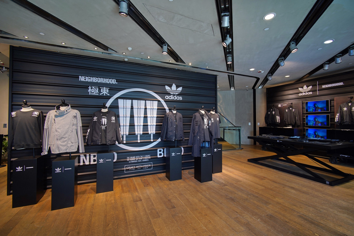 various colors for whole family official shop NEIGHBORHOOD x adidas Originals Pop-Up Store | HYPEBEAST