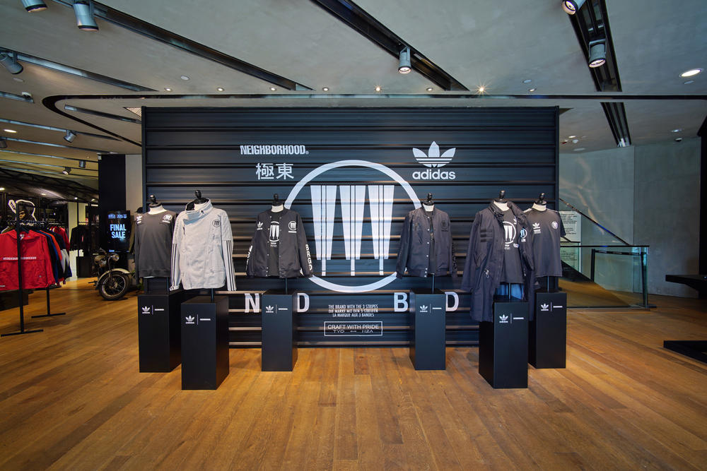 adidas Originals NEIGHBORHOOD Pop-Up Store Jackets NMDs Hong Kong spring summer 2018