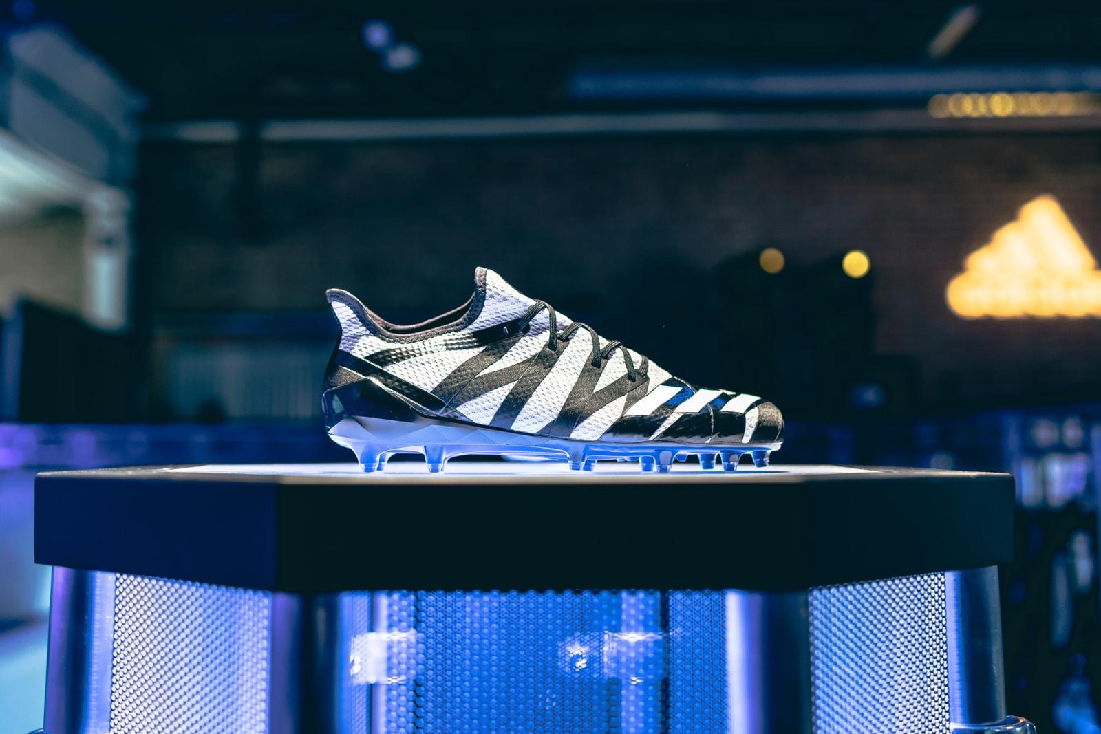 b2024ddde95 adidas SPEEDFACTORY AM4MN adidas Made for Minneapolis Football Cleat  interview Super Bowl LII pharrell williams snoop