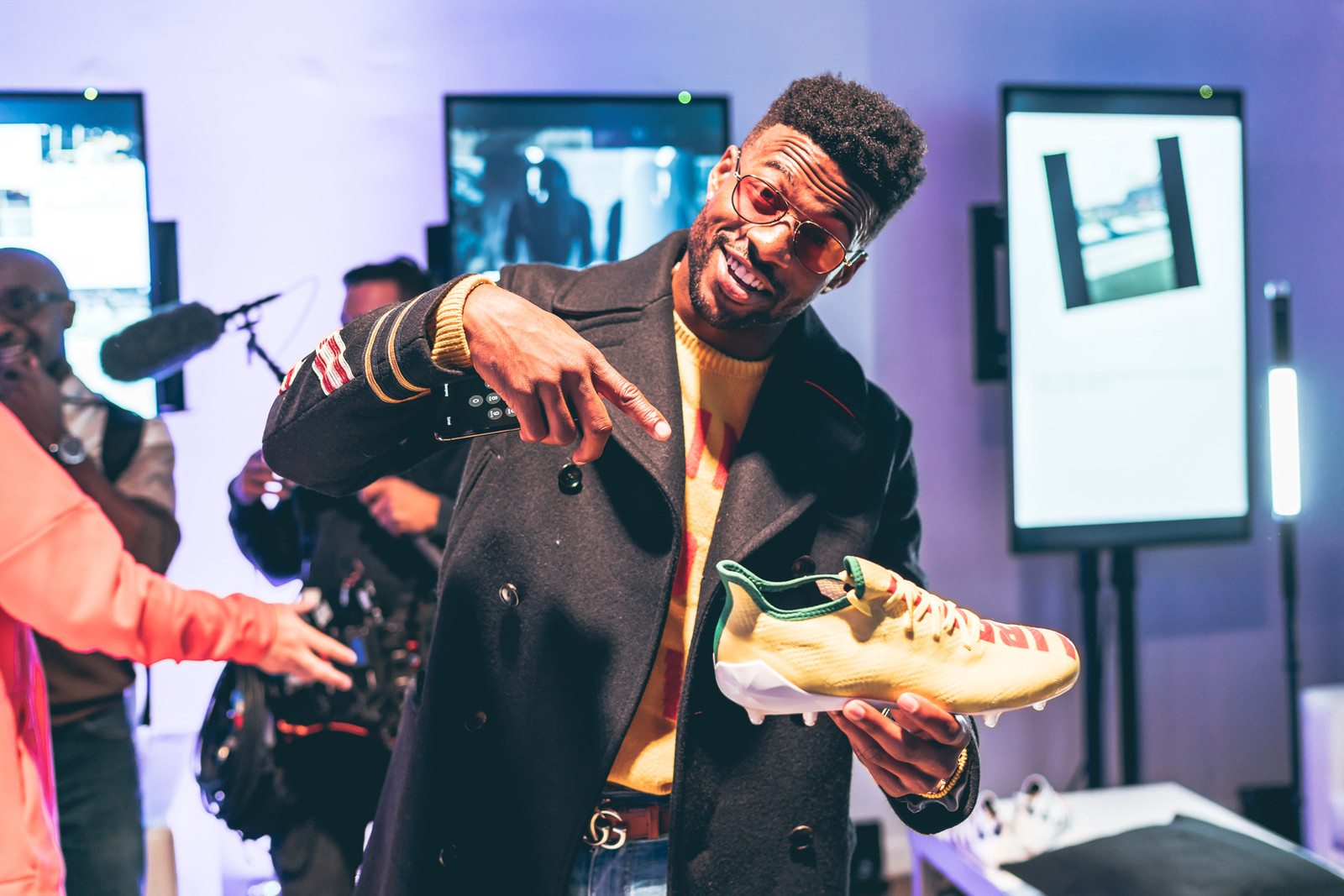 adidas SPEEDFACTORY AM4MN adidas Made for Minneapolis Football Cleat interview Super Bowl LII pharrell williams snoop dogg