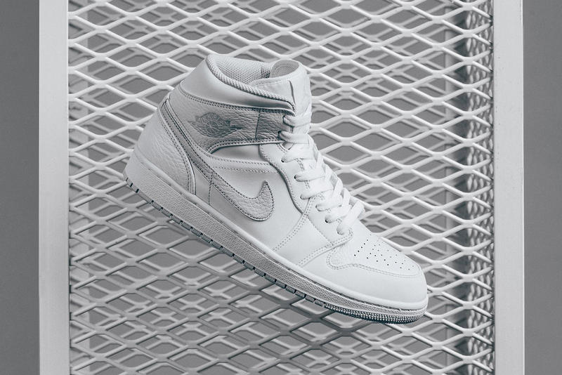 Air Jordan 1 Mid White Pure Platinum 2018 february release date info sneakers shoes footwear feature las vegas