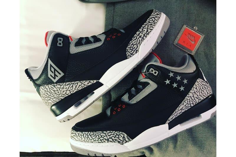 3f7d3831be91 LaMarcus Aldridge Air Jordan 3 Black Cement PE Instagram