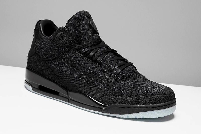 4497f25e6e7bfa Air Jordan 3 Flyknit Closer Look Black Cat Jordan Brand March 18 Release