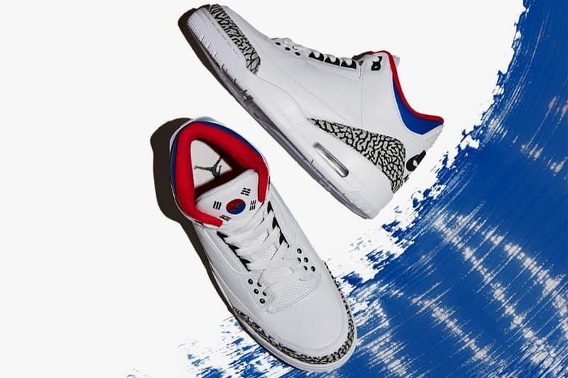 98aa10d2982d Air Jordan 3 Korea White Red Blue Black Flag Taegukgi