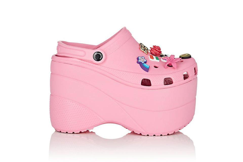 Balenciaga Platform Crocs in Pink and