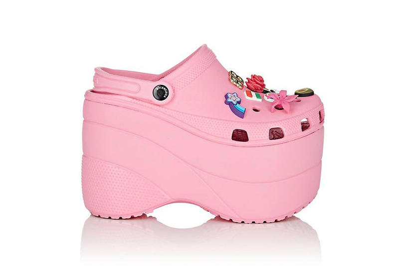 975553f66 Balenciaga Platform Crocs pink tan footwear release info drops date pre  order Barneys New York