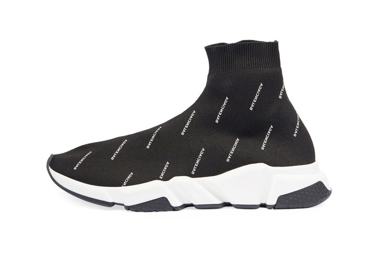 dc1167bc2359 Balenciaga Drops the Logo-Covered Speed Trainer in Black