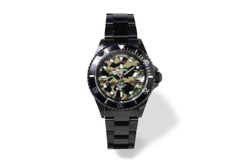 BAPE 1st Camo Type 1 BAPEX Watches a bathing ape silver black 2018 february 10 release date info