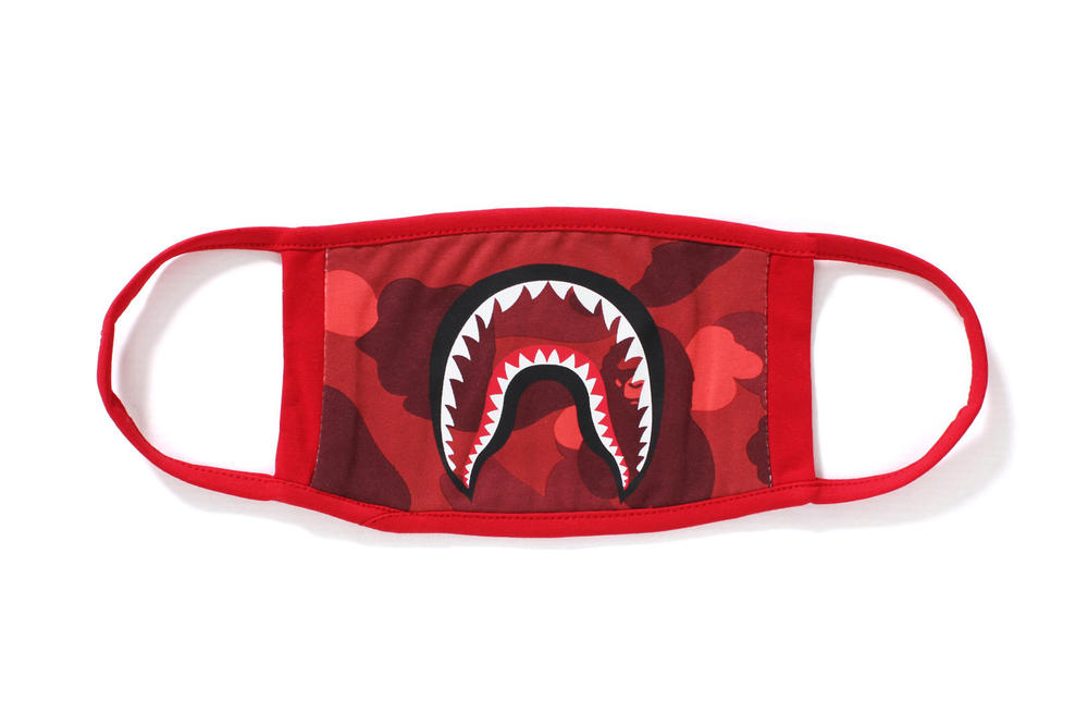 BAPE A Bathing Ape Camo Shark Mask Accessories Streetwear Fashion camouflage abc red purple blue
