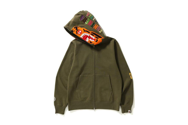 BAPE Full Zip Tiger Hoodie A Bathing Ape 208 february 10 release date info