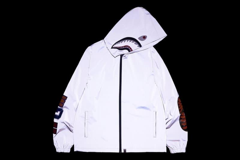 BAPE Reflector Shark Hoodie Jacket Menswear Streetwear Winter Gear 3M Release Date Info Drops February 3 2018
