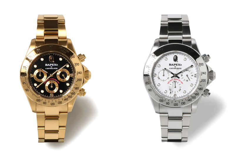 BAPE Type 3 BAPEX Watch Gold Silver 2018 march 3 release date info