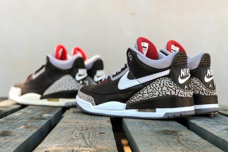 Tinker Hatfield Nike Air Jordan 3 Black Cement BespokeIND Release 01bf4ac21