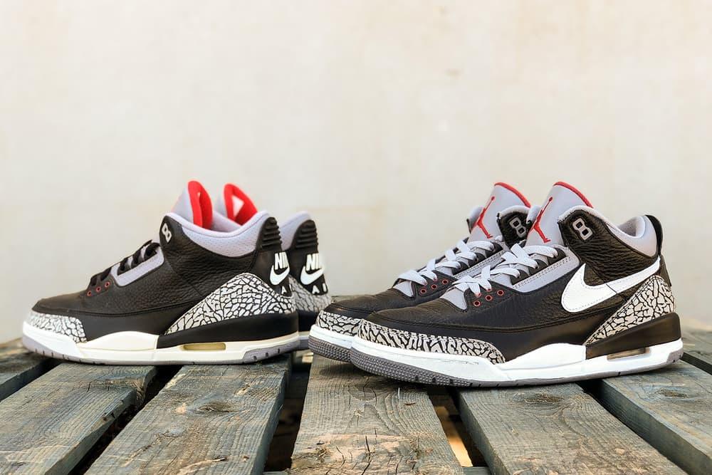 Tinker Hatfield Nike Air Jordan 3 Black Cement BespokeIND Release