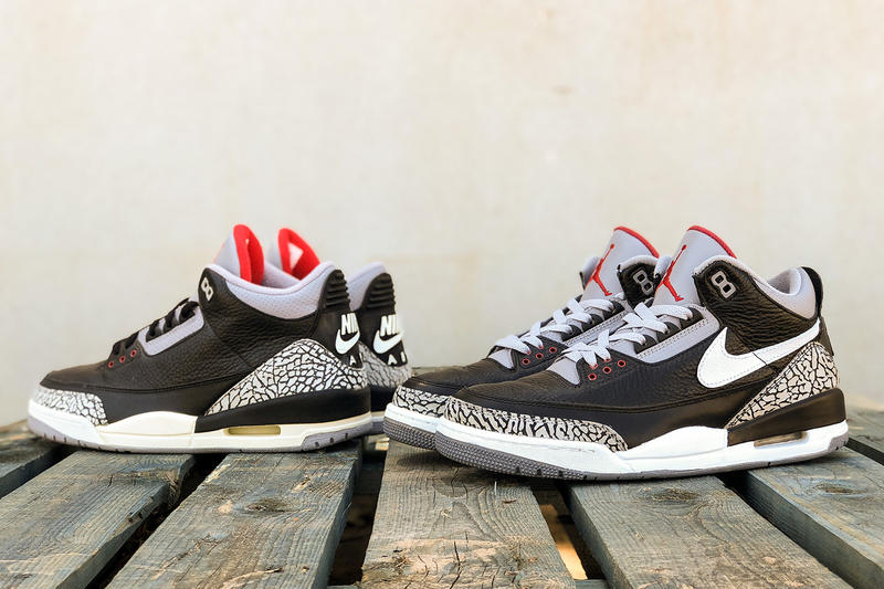 promo code ee143 9280e BespokeIND Debuts the Tinker Hatfield Nike Air Jordan 3 Black Cement Sample