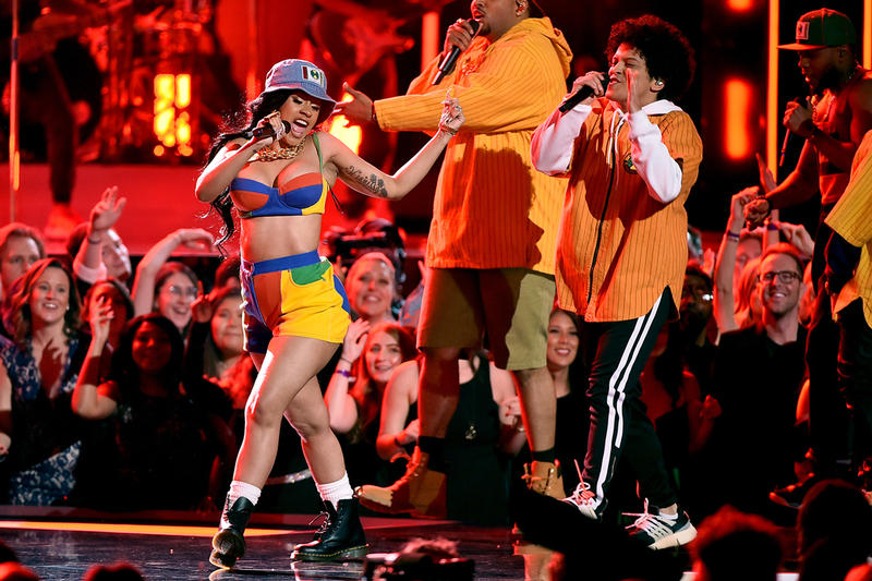 Bruno Mars Cardi B Tour Finesse Grammy Awards
