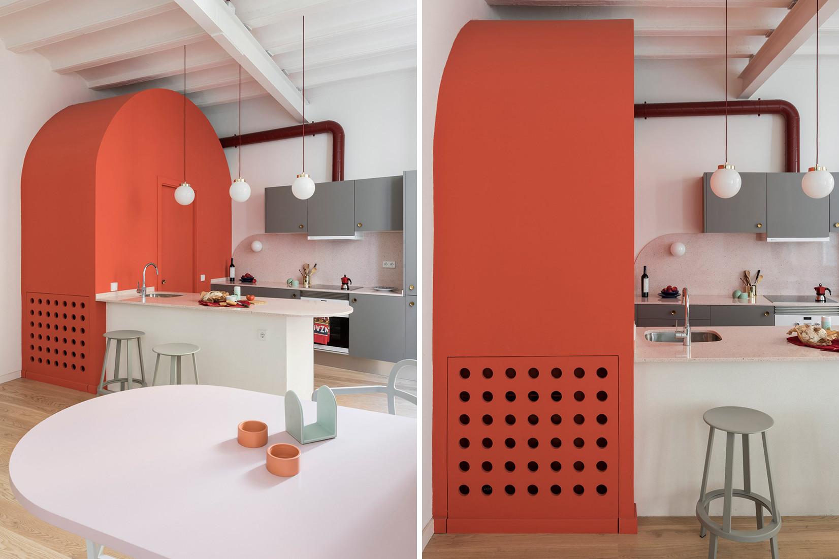 Pastel Interieur Barcelona : Pretty pastel hued interiors from dezeen s boards