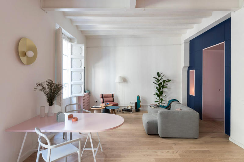 Colombo Serboli Architecture Barcelona Apartment Residential Building 13th Century 65 Square Metre
