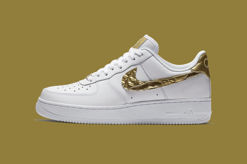 Nike Cristiano Ronaldo 24k Gold Air Force 1 birthday gift present custom 24 karat 2018
