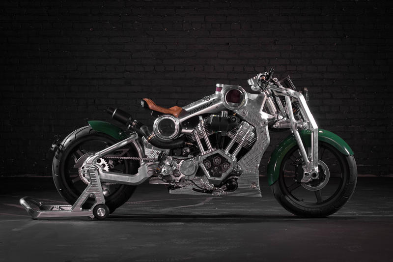 Curtiss Released First Bike 100 Years Warhawk Motorcycle Aluminum Frame 2200cc V-Twin 165 MPH Girder Forks