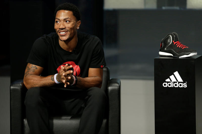 derrick rose adidas hoops basketball sneaker signature d contract agreement salary earnings money brother friend