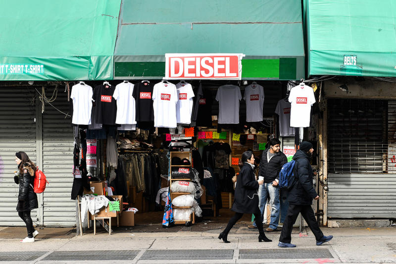 Diesel Bootleg 'Deisel' Collection New York Launch Fake Canal Street