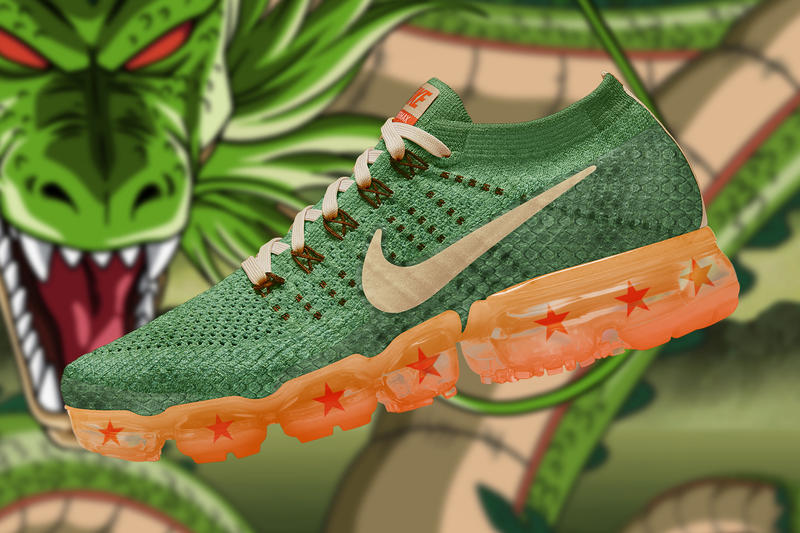 4bafb91ed0f18 Dragon Ball Super Nike Air Vapormax Renders concepts the golden shape  custom romain