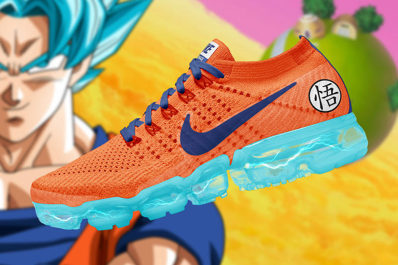 Dragon Ball Super Nike Air Vapormax Renders concepts the golden shape custom romain